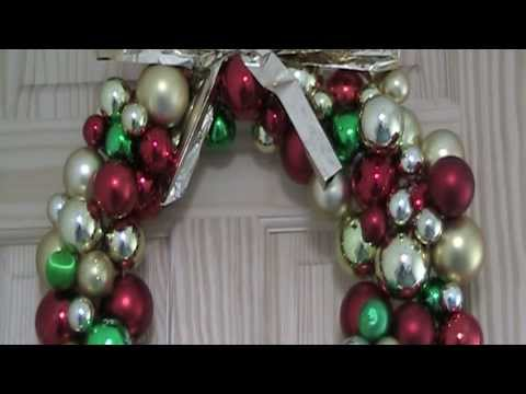 Bauble Wreath | DIY | Recycle