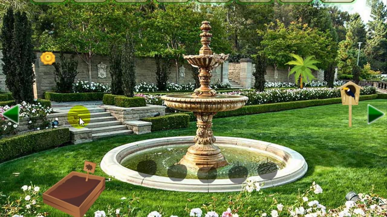 mansion garden escape video walkthrough