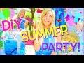 - DIY SUMMER PARTY! DIY Decor, Treats, & More!