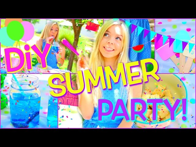 DIY SUMMER PARTY! DIY Decor, Treats, & More!