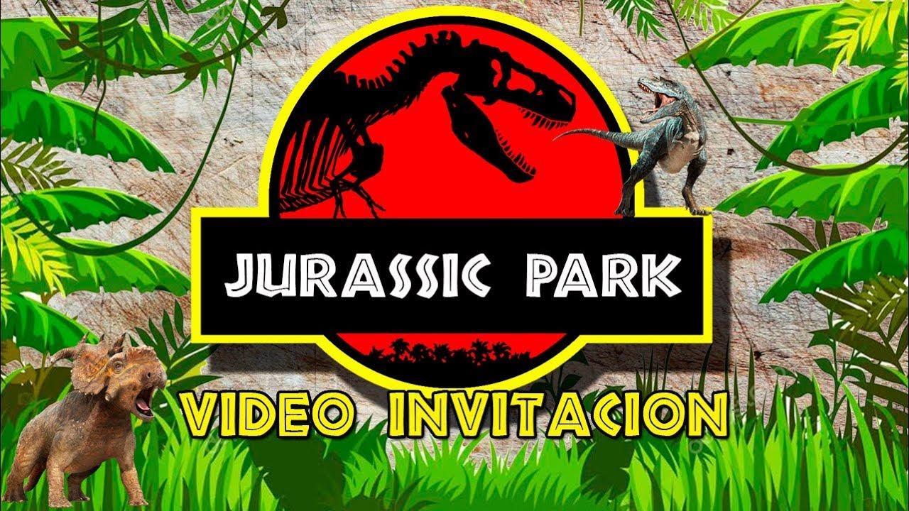 Video Invitación Digital Jurassic World Cumpleaños By