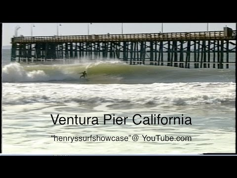"""Ventura Pier"" CA. 4-7 foot wave faces - surfing"