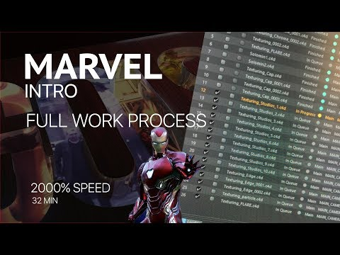 Full Work Process Create Marvel Intro  (создание заставки Marvel)