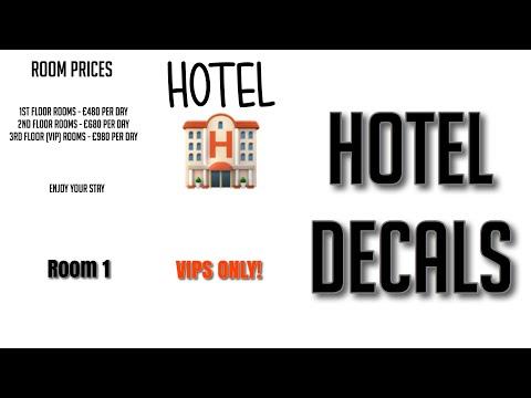 Roblox Bloxburg Hotel Decal Id S Youtube