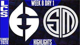 EG vs TSM Highlights | LCS Summer 2020 W8D1 | Evil Geniuses vs Team Solomid