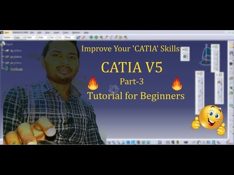 CATIA V5 Tutorial-3 for Beginners in Hindi   Sketching, Circle, Arc, Line, Spline, Point, Ellipse