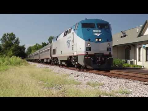 Amtrak Palmetto #90 Arrival and Departure at Kingstree, SC