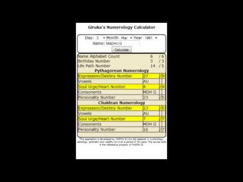 Pythagorean numerology calculator, pythagorean gematria calculator