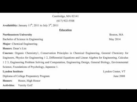 How to Write a Resume for COOP?