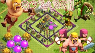 Clash of clans GOBARCH Farming attack strategy for Th8 & Th7