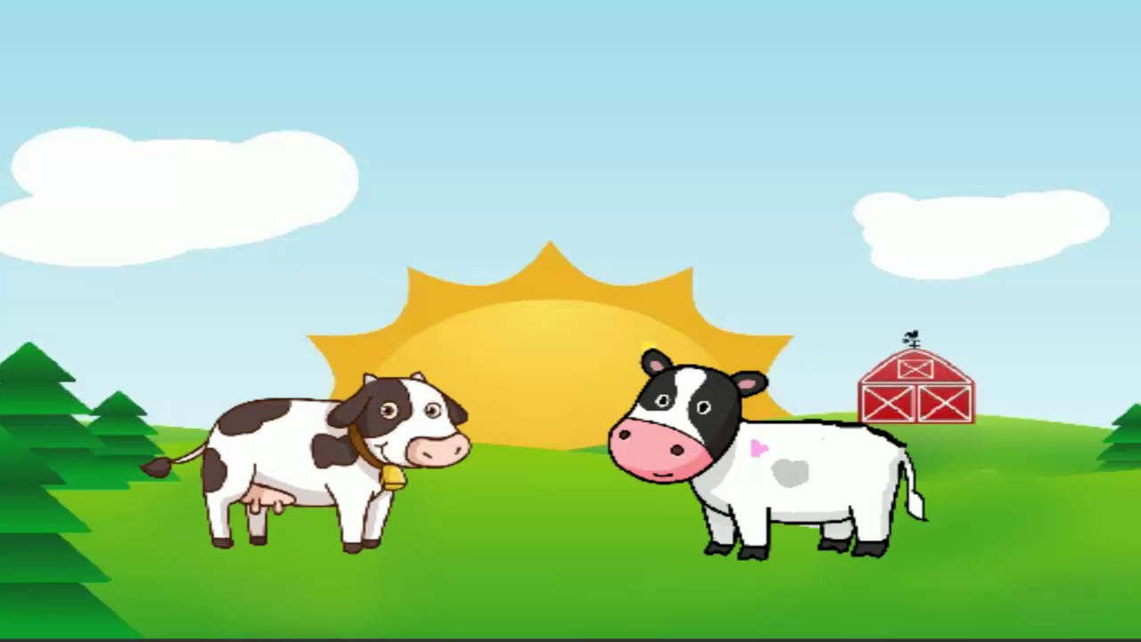 Learn Animal Cow Farm Happy Cows Old MacDonald Song Cow ...