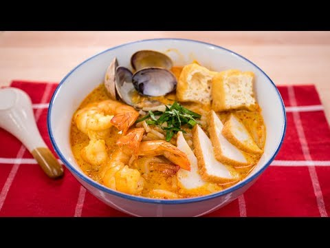Laksa Recipe - Singaporean Curry Noodle Soup (Laksa Lemak) | Asian Recipes