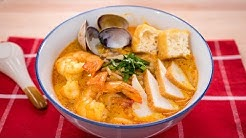 Laksa Recipe - Singaporean Curry Noodle Soup (Laksa Lemak) | Asian Recipes