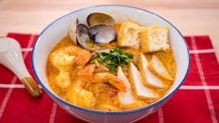 Laksa Recipe - Singaporean Curry Noodle Soup (Laksa Lemak)