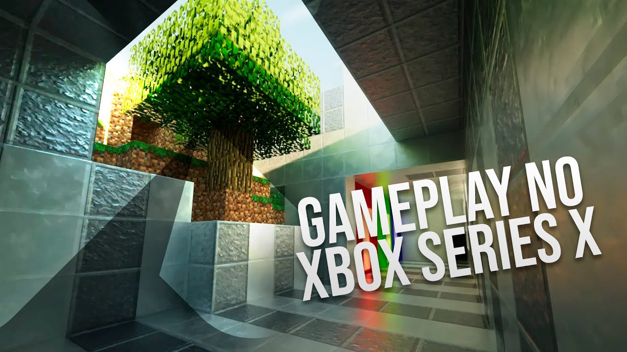Gameplay no Xbox Series X - Minecraft Ray Tracing e Gears 8