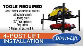 Direct Lift 4-Post Installation