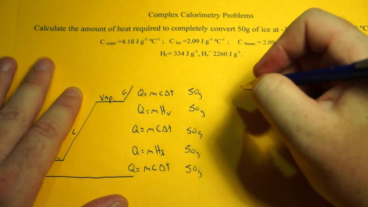 Solving Complex Calorimetry Problems Ice To Steam Youtube
