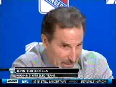 John Tortorella freak out - Post Game - 12/16/09 - Rangers vs. Islanders