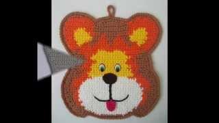 """Прихватки крючком """"Веселый зоопарк"""". Crochet potholders."""