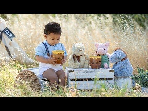 1st Birthday Photoshoot Winnie the Pooh theme