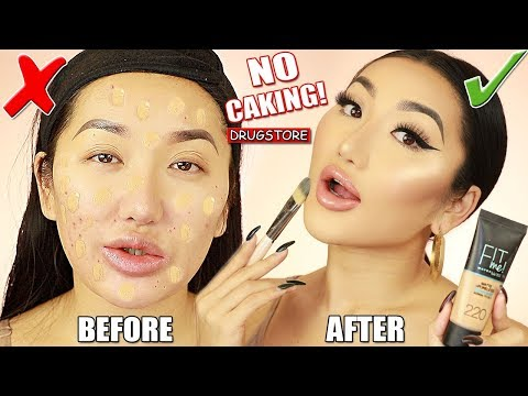 FOUNDATION FOR BEGINNERS | HOW TO AVOID CAKEY MAKEUP, HOW TO MATCH FOUNDATION & DRUGSTORE DUPES