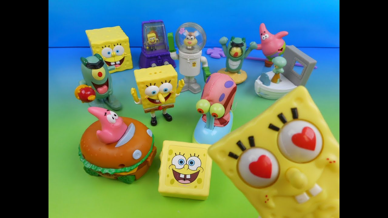 2004 Spongebob Squarepants The Movie Set Of 12 Burger King Kid S Meal Toy S Video Review Youtube