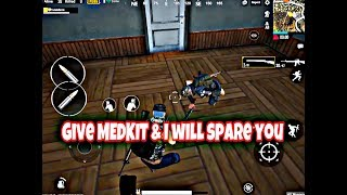 My Enemy gave me a MEDKIT (FUNNY PUBG MOBILE MOMENTS)