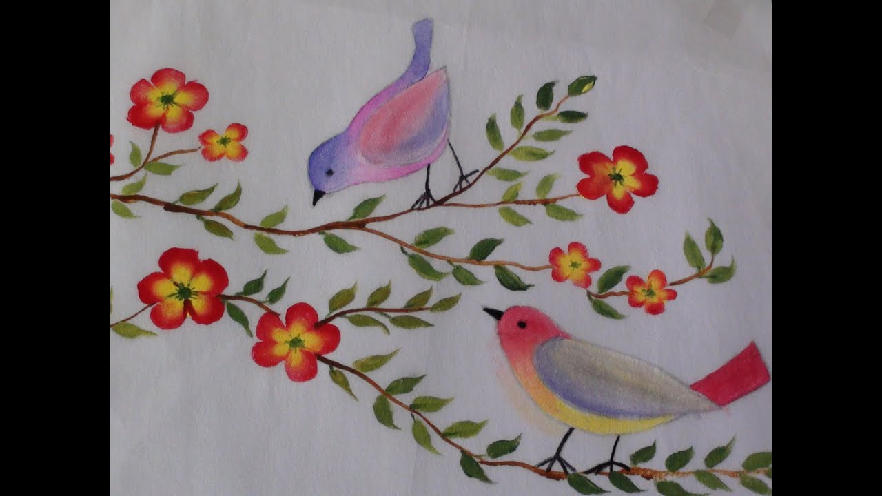 Fabric Painting Designs Simple Flower