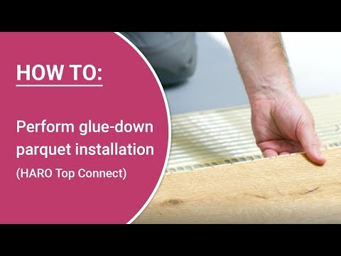 Perform Glue Down Parquet Installation Yourself Haro Parquet With