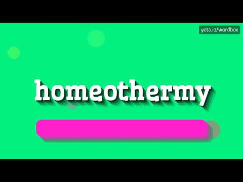 HOMEOTHERMY - HOW TO PRONOUNCE IT!?