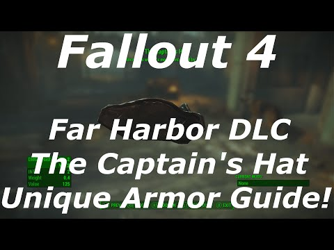"Fallout 4 Far Harbor DLC ""The Captain's Hat"" Unique Armor Location Guide! (Fallout 4 DLC Armor)"