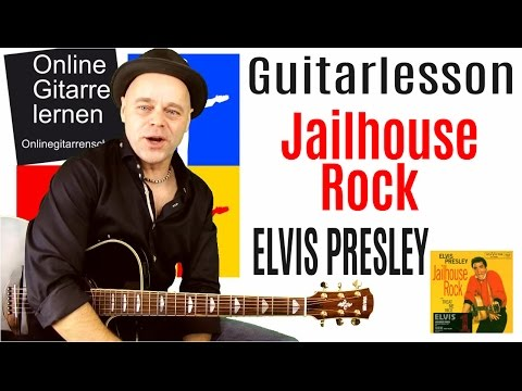 Jailhouse Rock Elvis Presley Guitarlesson Gitarre lernen