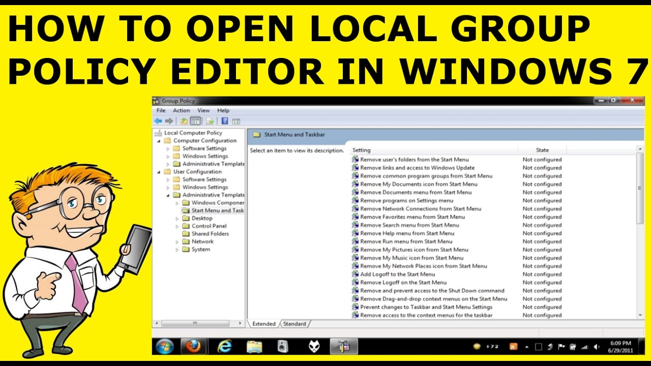 how to open group policy editor
