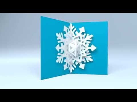 Pop up snowflake holiday greeting card by red paper plane youtube pop up snowflake holiday greeting card by red paper plane m4hsunfo