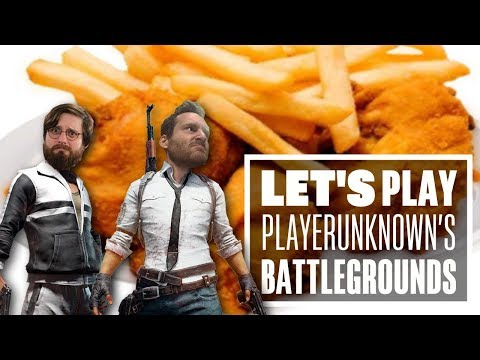 Let's Play PUBG gameplay with Ian and Johnny - CHICKEN AND CHIPS... AND JET LAG!