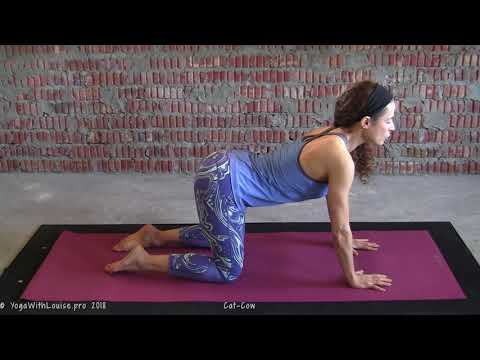 Supple Spine How to do Cat-Cow pose | Yoga with Louise
