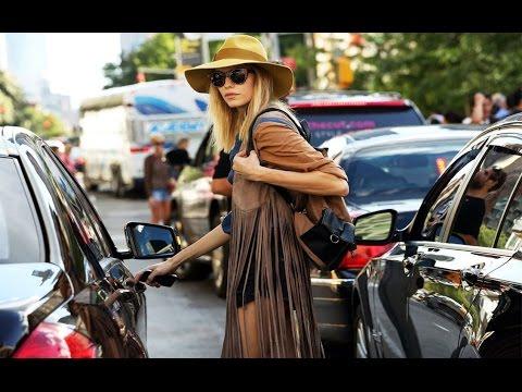 Стиль 70-х в одежде женщины.