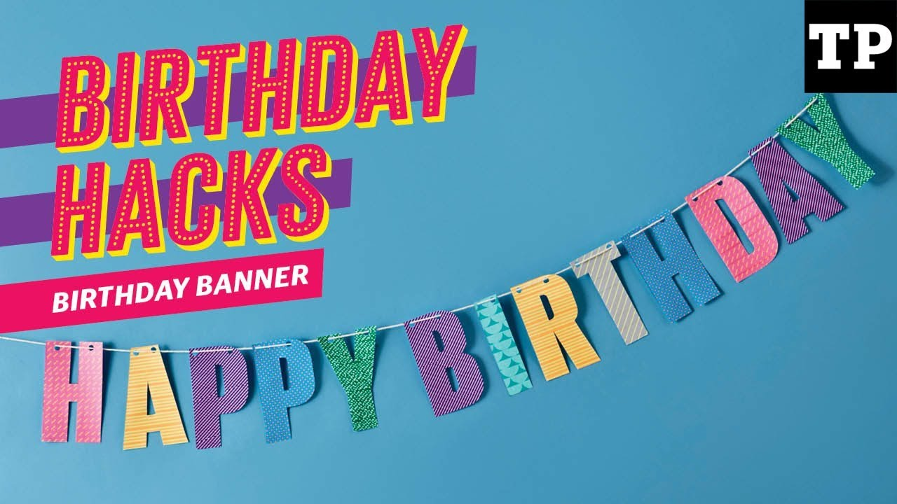 How To Make A Happy Birthday Banner Using Washi Tape