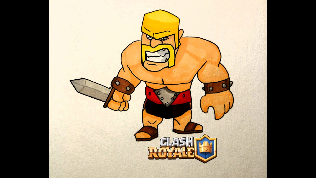 Dessin Du Barbare Draw Barbarians Clash Royale