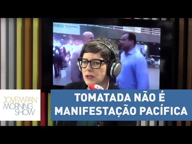 """""""Tomatada não é manifestação pacífica"""", critica Helen Braun   Morning Show"""