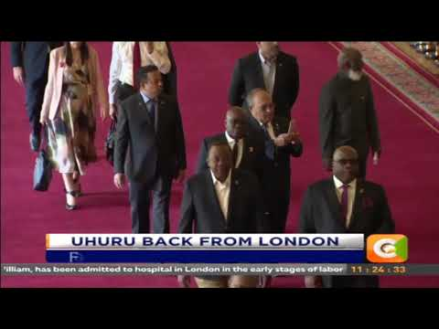 Citizen Extra :Uhuru back from london.