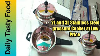 Butterfly Stainless steel 2L and 3L Pressure Cooker Unboxing/Review/Two in One Pressure Cooker