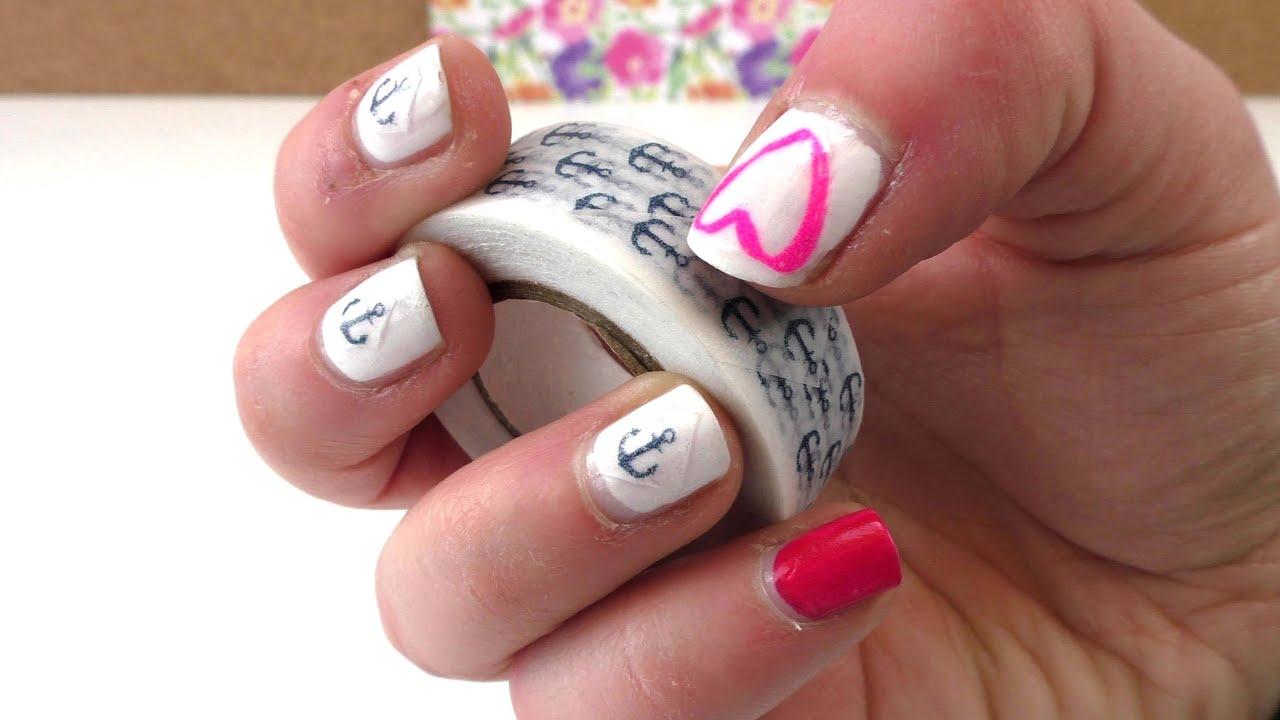 Nail Design mit Washi Tape - selber machen DIY Fingernägel / Washi ...
