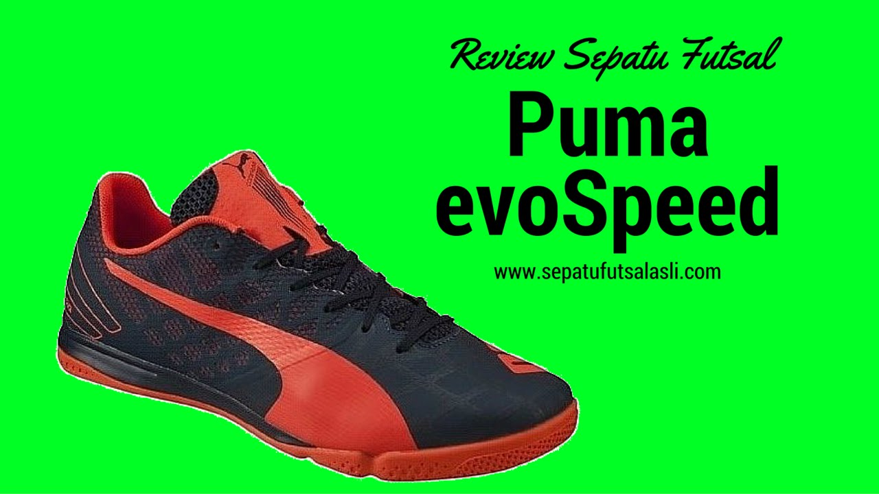 Review Sepatu Futsal Puma evoSpeed 3.4 103238-01 - YouTube ef4bff638d