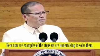 Philippine President Benigno Aquino III: No Reconciliation Without Justice - SONA Part 2 of 3