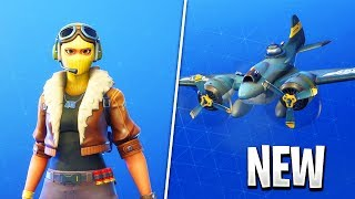 "NEW SKIN ""VELOCITY"" - ""BOMBARDIER"" GLIDER! Fortnite Battle Royale"
