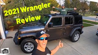 WE BOUGHT A BRAND NEW 2021 JEEP WRANGLER SPORT UNLIMITED JL - And We Love It! Walkaround and Review!