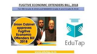 Fugitive Economic Offenders Bill, 2018 explained for RBI and NABARD 2018