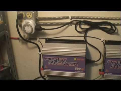 Free Energy DIY GTI Solar Grid Tie Inverter Sun spin meter backward