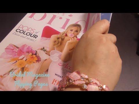 ASMR Bridal Magazine Flipping Pages - Whisper/ Soft Spoken - Page Turning!